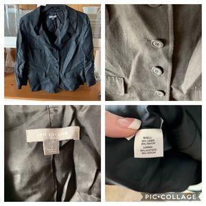 Black boxy fit blazer by Ann Taylor